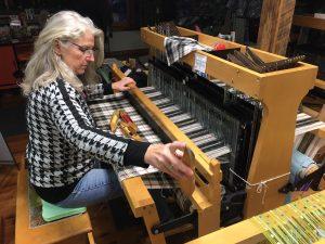Cecilia Weaving a Tartan