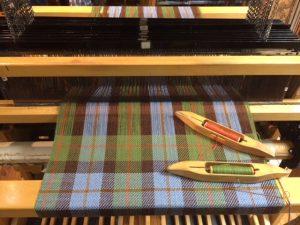 MacLeod Tartan on the loom