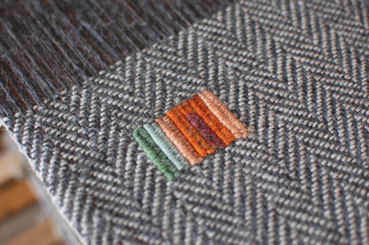 Katie Strano Cloth on Loom