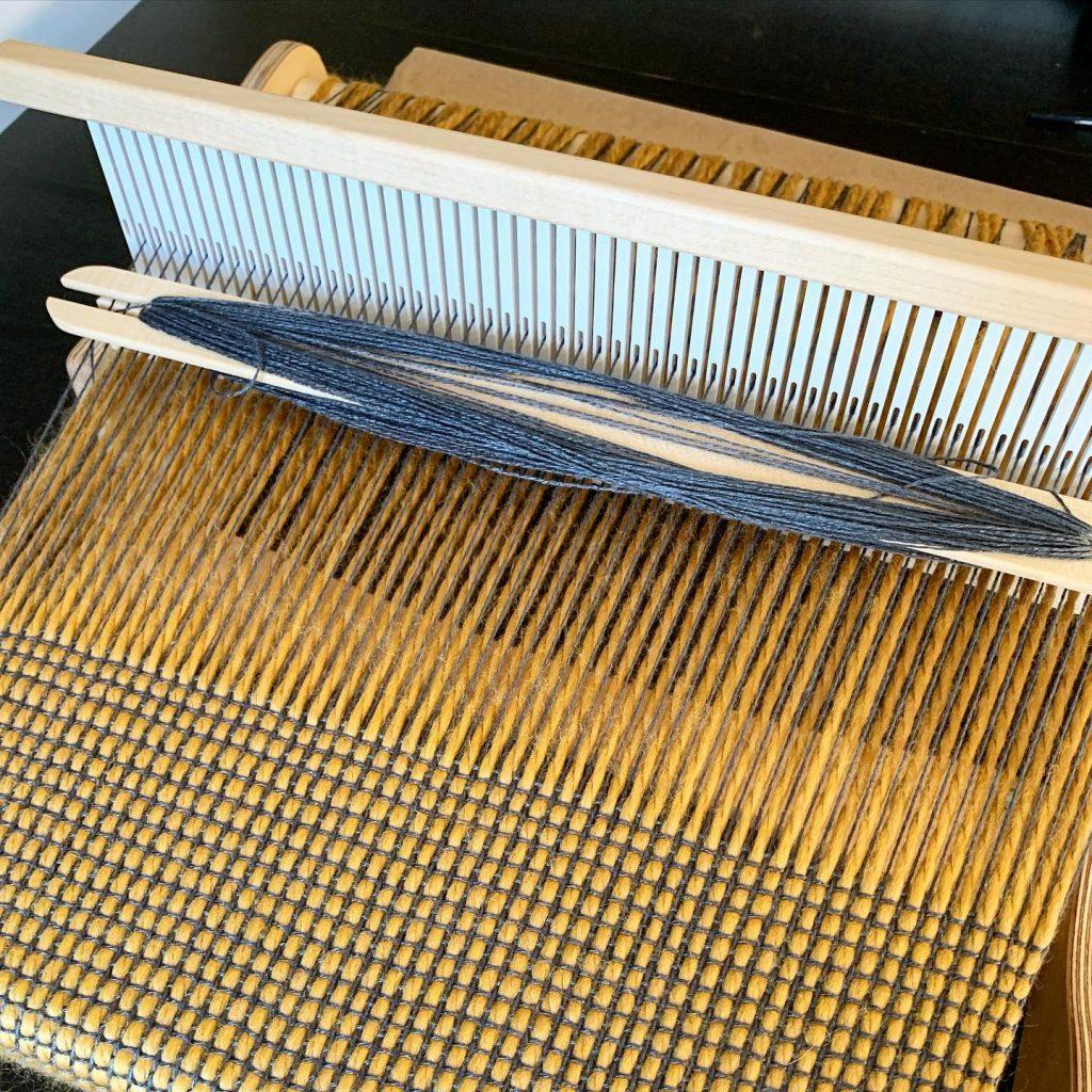 Lindsay Wiseman - Weaving on Loom